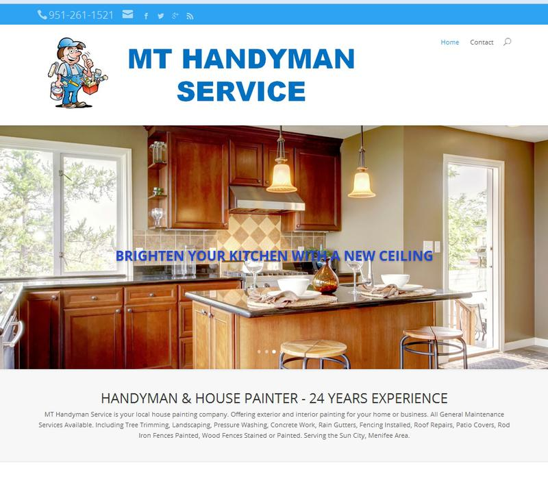 Handyman Website Sample by Advance Your Listing - Website Designer Murrieta CA